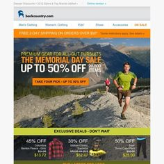 Backcountry - Memorial Day Sale - Up to 50% Off & New 2012 Spring Styles Added