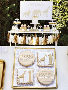 Use styrofoam boxes, cover in gold paper to use as display, layering boxes