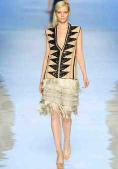 Etro's graphic, fringed flapper