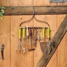 12 Garden Tool Racks You Can Easily Make - garden-decor