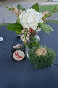 Vintage Baseball Wedding Our Centerpiece