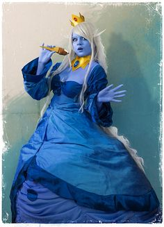 Ice Queen Adventure Time Cosplay http://geekxgirls.com/article.php?ID=2587