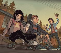 I got to illustrate officially for Life is Strange one of my all time favorite games, it's honestly a dream come true to me 🤧✨… Character Inspiration, Character Art, Life Is Strange Fanart, Life Is Strange Wallpaper, Life Is Strange 3, Gabriel Picolo, Teen Titans Fanart, Arte Cyberpunk, Cartoon Art Styles
