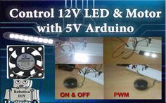 In this tutorial we will see how to control 12V LED and motor with 5V Arduino by using Transistor TIP122. And we are using transistor as a switch and also controlling led and motor with …
