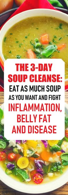 Healthy Diet The Soup Cleanse: Eat as Much Soup as You Want And Fight Inflammation, Belly Fat And Disease - Healthy Beauty Ways Soup Cleanse, Cleanse Recipes, Diet Recipes, Cleanse Detox, Detox Soups, Healthy Recipes Dinner Weightloss, Vegetarian Recipes, Healthy Cleanse, Easy Recipes