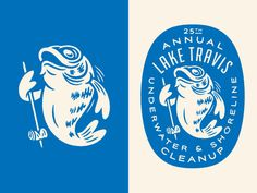 Lake Travis Underwater & Shoreline Cleanup Refresh designed by Alana Louise. Connect with them on Dribbble; Lake Travis, Vintage Logo Design, Vintage Logos, Retro Logos, Badge Design, Mascot Design, Creative Logo, Identity Design, Typo Design