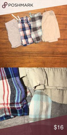 Boys 24M Shorts Bundle EUC Carter's gray cotton shorts. GUC jumping beans red,whit, & blue plaid shorts. VGUC Carter's aqua, white, & gray shorts. EUC NEVER WORN jumping beans khaki shorts. Carter's Bottoms Shorts