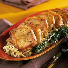 Balsamic Pork Chops - Rosemary and balsamic vinegar provide the great flavor in this 30-minute recipe. Complete the meal with a side of long-grain and wild rice mix.