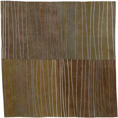 Lisa Call's absolutely beautiful hand dyed fabric quilts. Abstract Contemporary Textile Painting / Art Quilt - Markings #4 ©2007