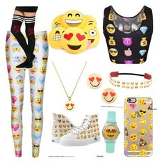"""Emoji Everything"" by cheerleader-for-life1 on Polyvore featuring Casetify, Kate Spade, women's clothing, women's fashion, women, female, woman, misses and juniors"