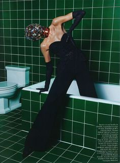Anja Rubik Is Queen of Hygiene by Mario Sorrenti for Vogue Paris March 2013