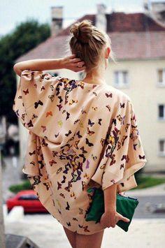 cute kimono tops | blouse butterfly bat wings t-shirt tunic jacket floral kimono kimono ...