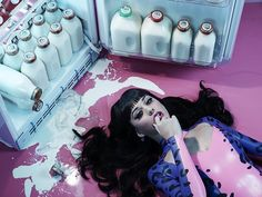 Miles Aldridge shoots Katy Perry for her new Fragrance 'Purr' David Lachapelle, Guy Bourdin, Tim Walker, Steam Punk, Kati Perri, Miles Aldridge, Katy Perry Pictures, Grunge, Jean Marie