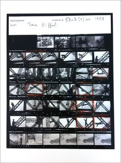 Contact sheet, Marc Riboud (1923 Lyon, France). At the Great Exhibition of Paris in 1937 he takes his first pictures with the small Kodak Vest-Pocket his father offered him. In 1953, he publishes his famous 'Eiffel Tower's Painter' in Life magazine and joins Magnum agency after meeting Cartier-Bresson and Robert Capa. He crosses Middle-East, Afghanistan,India, China, USSR, Algeria and Western Africa. Between 1968 and 1969 he's one of the few photographers allowed to travel in Vietnam.