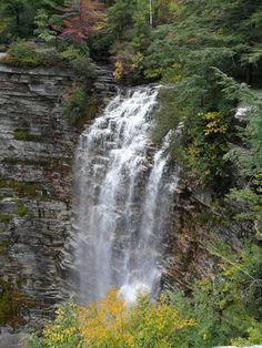 Verkeerderkill Falls near Ellenville, NY.  Hiking + waterfalls = happiness.  :)