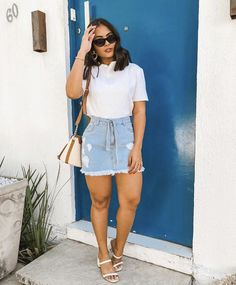 Curvy Girl Outfits, Cute Casual Outfits, Modest Outfits, Pretty Outfits, Casual Chic, Summer Outfits, Modest Clothing, Denim Fashion, Look Fashion