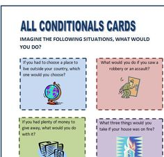 All Conditional Sentences Speaking Cards English Sentences