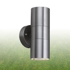 Searchlight - 5008-2 Outdoor Fitting, 2 Light Stainless Steel and Glass - IP44 Rated | €42.51 | OUTDOOR WALL LIGHTS | Outdoor Lighting - OBriens Lighting, Co Kerry, Ireland