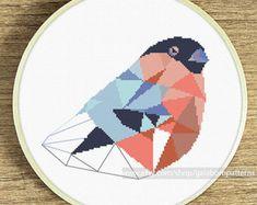 Modern cross stitch pattern Cockatiel cross by galabornpatterns