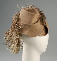 Sally Victor | Hat | American | The Met 1942 Medium:Fur, wool, feathers