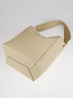 edfdff148e43 Authentic Celine Dune Goatskin Leather Medium Sangle Seau Bag at Yoogi s  Closet.