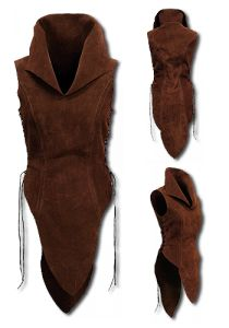 Elf, darkbrown - Armour for Women - Leather Armour. This noble ladyarmour Elf of tear-resistant but soft suede is beautifully designed by the upper legs, a full robe or light armour for women. Larp, Viking Shield Maiden, Leather Armor, Cosplay Costumes, Teen Costumes, Woman Costumes, Pirate Costumes, Princess Costumes, Group Costumes