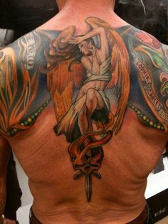 Sylvester Stallone's tattoo (back piece)