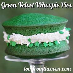 Green Velvet Whoopie Pies - St. Patrick's Day Baking Ideas