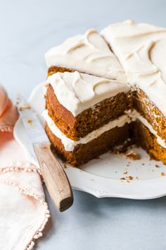The Best Pumpkin Cake Recipe — Style Sweet - Two Ginger Sweets - The Best Pumpkin Cake Recipe, Pumpkin Cake Recipes, Best Carrot Cake, Frosting Recipes, Dessert Recipes, Desserts, Ginger Sweets, Brown Butter Frosting, Apple Spice Cake