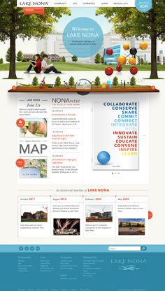 Lake Nona - learnlakenona.com Site Resdesign