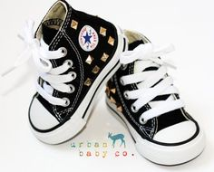 Image result for black gold baby boy converse