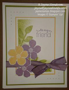 ~ ~ ~Jayne Stamps ~ ~ ~ Secret Garden card - Perfect Plum and So Saffron