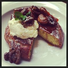 Pancakes with ricotta, figs & caramelised walnuts - Ozone Coffee, Old Street