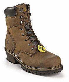 Chippewa Tough Bark Oblique Steel Toe Logger IQ Style Men Shoes 55026
