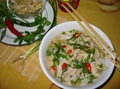 """Vietnamese Chicken Soup: """"Delicious! This may not be quite the same taste as traditional Vietnamese Pho, but it's still a great tasting soup. I love the method of cooking the chicken quickly in the broth and I thought the flavor combination was great."""" -HeatherFeather"""
