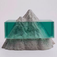 Ben Young : Sculptures de verre et de béton