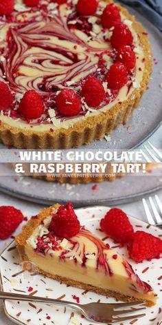 Chocolate And Raspberry Tart, Chocolate Ganache Filling, Raspberry Tarts, Raspberry Cake, No Bake Desserts, Just Desserts, Delicious Desserts, Dessert Recipes, Yummy Food