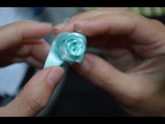 Handmade ribbon roses - YouTube
