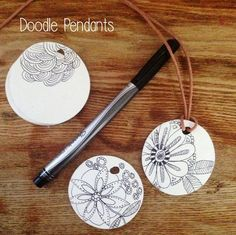 Doodle pendants by Wise Craft Handmade