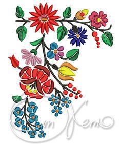 Flores de bordado archivo arte Húngaro máquina por OTKETO en Etsy