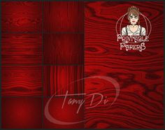 Red Wood Grain Textures 8.5x11 Printable by TanyDiDesignStudio