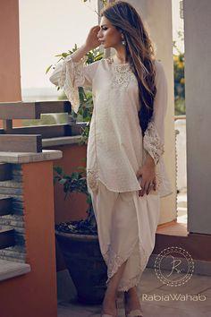 Rabia Wahab Eid Kurta with Tulip Shalwar