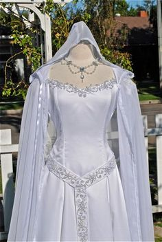 Juliana Princess Medieval Fantasy Gown with Cape and Belt Custom. $850.00, via Etsy.
