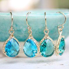 beautiful blue earrings