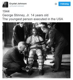 """destinyrush: """" It took 10 minutes to convict 14-year-old George Stinney Jr. It took 70 years after his execution to exonerate him. """""""