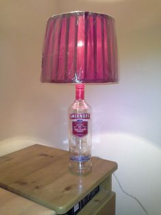 ideal party piece or gift Green LED lights Buckfast bottle lamp