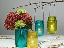 Design Master TintIT Sprays transform mason jars into glowing porch or patio lights!