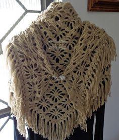 mp.croche: Xale em lã