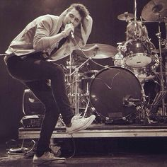 Dan Smith of Bastille I love when he does this when he performs
