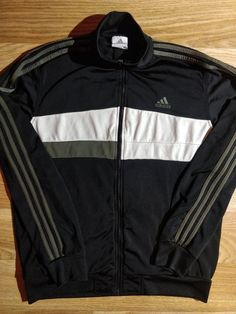 fe1aafd98 Adidas 90 s Vintage Mens Tracksuit Top Jacket Black White